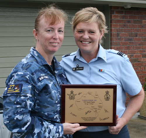 CPL Natalie Eagles (RAAFAR) and CHAP Janie McPhee (NZDF)