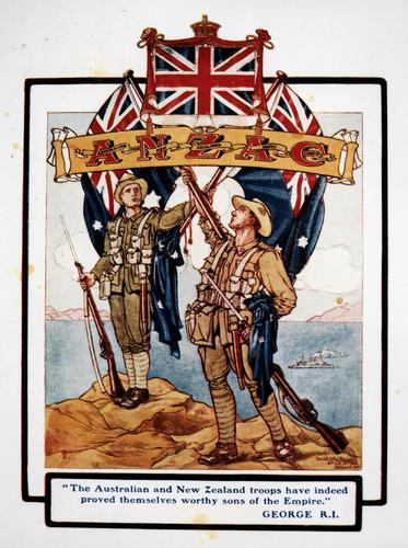 An illustration following the ANZAC Campaign